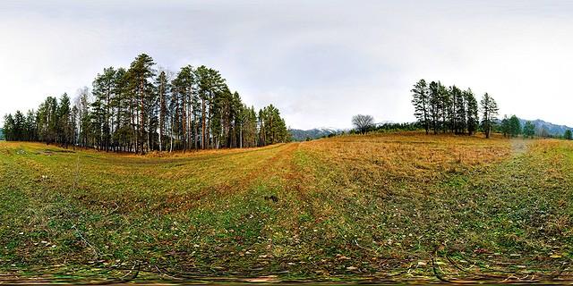 горный алтай берег катунь поляна осень