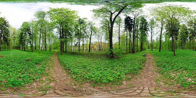 аллея прогулка панорама фото