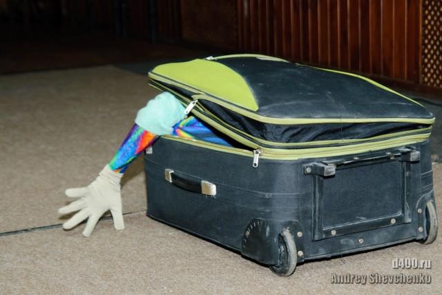 чемодан с ручкой